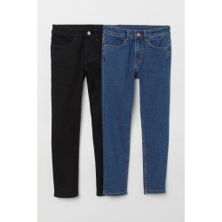 Boy's 2-pack blue/black  Skinny Fit Jeans by H & M
