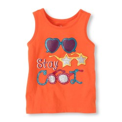 Cool glasses graphic tank top by Children's Place