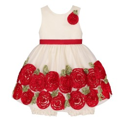 American Princess Baby Girl Special Occasion Dress Rosettes
