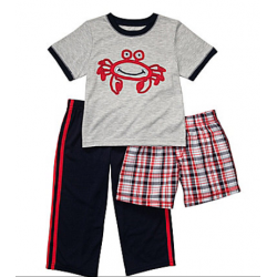 Carters 3-Piece Crab Pajama Set - 24 months