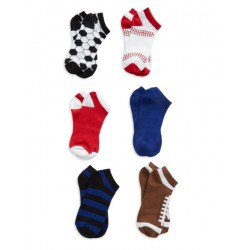Capelli New York 6-Pack Sports Ankle Socks -  Shoes Size   9-13
