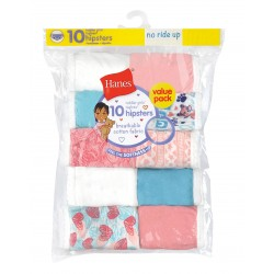 Hanes Toddler Girls' Briefs Cotton Hipsters 10-Pack