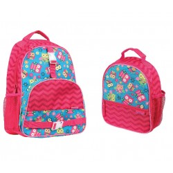 Stephen Joseph All Over Print Backpack and Lunchbox, Owl