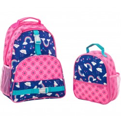 Stephen Joseph All Over Print Backpack and Lunchbox, Rainbow
