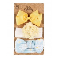 Baby Essentials Daisy 3 Pack Headband Set