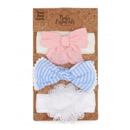 Baby Essentials Mixed 3 Pack Headband Set