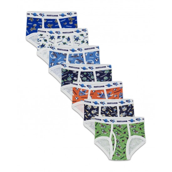 Fruit of the Loom Toddler Boys' Days of the Week Print Brief, 7 Pack