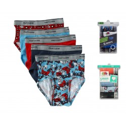 Fruit of the Loom Boys' Print and Solid Fashion Briefs, 5 Pack