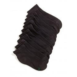 Hanes  Boys 10 Pack Ankle Socks - Black
