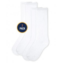 Girls Uniform Knee Socks 2-Pack by CP - White