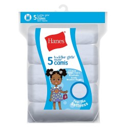 Hanes Toddler Girls' Cami White 5-Pack