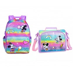 Disney Mickey and Minnie Mouse Backpack & Lunch Box