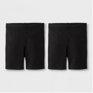 Cat & Jack Black Toddler Girls  Bike Shorts - 2 Pack