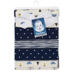 Gerber 5-Pack Baby Boys Fox Flannel  Blankets