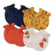 Gerber 4-Pack Baby Boys Fox No Scratch Mittens