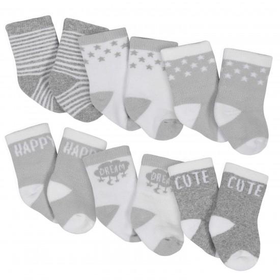 Gerber  6-Pack Baby Unisex Lamb Wiggle-Proof Crew Socks