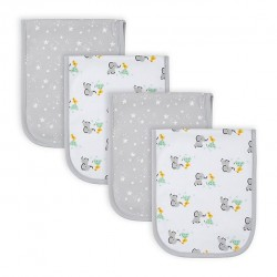 Gerber 4-Pack Baby Neutral Baby Animals Terry Burp Cloths