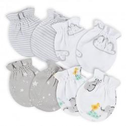 Gerber 4-Pack Baby Neutral Baby Animals No Scratch Mittens