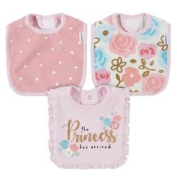Gerber 3-Pack Baby Girls Princess Bibs