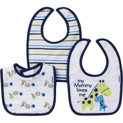Gerber 3-Pack Boys Jungle Terry Dribbler Bibs