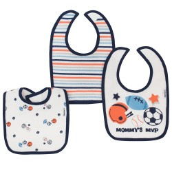 Gerber 3-Pack Boys Sports Dribbler Bibs