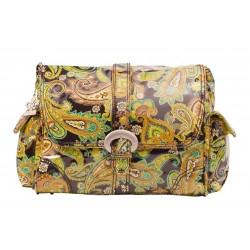 Kalencom Printed Matte Coated Diaper Bag Set - Brown Paisley