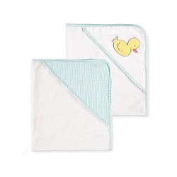 Little Me Duck 2 Pack Hooded Towel Set