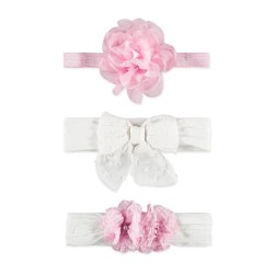 Baby Essentials Mixed 3 Pack Headband Set (Pink/White)