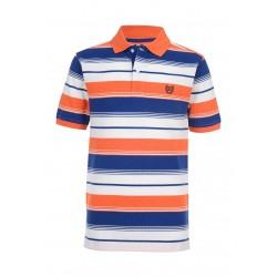 Chaps Boys 4-7 Striped Polo Shirt - Clementine - Size 4