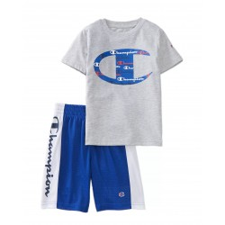 Champion Boys 4-7 Big C Shorts and T-Shirt Set - Blue