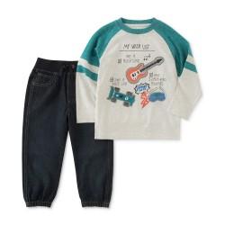 Kids Headquarters  2-Pc. Shirt & Jogger Pants Set, Little Boys