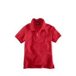 Ralph Lauren Boys 4-7 Essential Knit Polo - Red