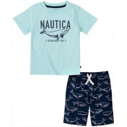 Nautica Little Boys Whale Short Set