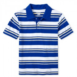 Boys Striped Jersey Polo by CP
