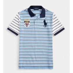 Ralph Lauren Big Pony Crest Cotton Polo Big Boys - Blue