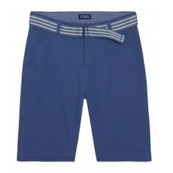 Chaps Stretch Twill Shorts with Belt - Big Boys - Blue