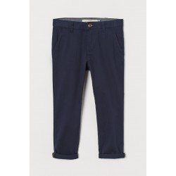 Cotton Chinos by H & M - Navy