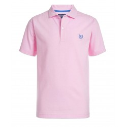 Chaps Boys Short Sleeve Stretch Jersey Polo Shirt - Pink