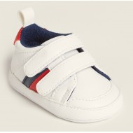 First Steps (Newborn/Infant Boys) White Low-Top Sneakers