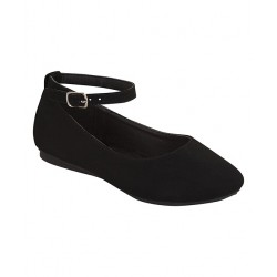 Lucky Top Black Cute Ankle-Strap Flat - Girl