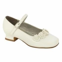 Josmo Beaded Flower Girl Dress Shoes - White
