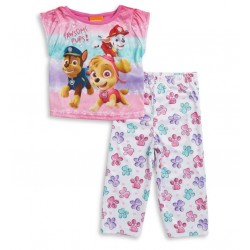Ame Sleepwear Little Girls Paw Patrol Two-Piece Printed Tee & Pants Set 2T-4T