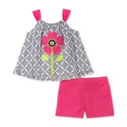 Kids Headquarters Toddler Girls 2-Pc. Tank Top & Shorts Set