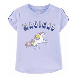 OshKosh Baby Unicorn Twist-Sleeve Tee