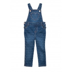 TRUE CRAFT Toddler Girls Denim Overalls