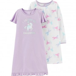 Carter's 2-Pack Unicorn Nightgowns - Toddler Girls
