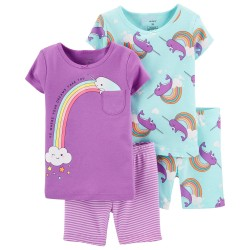 Carter's 4-Piece 100% Snug Fit Cotton Pajamas - Toddler Purple