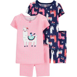 Carter's 4-Piece 100% Snug Fit Cotton Pajamas - Toddler Pink