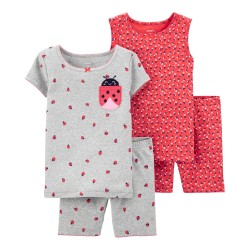 Carter's 4-Piece 100% Snug Fit Cotton PJs - Toddler Girls