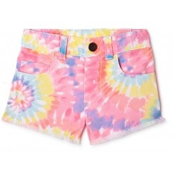 Garanimals Toddler Girls Solid Denim Shorts - Rainbow